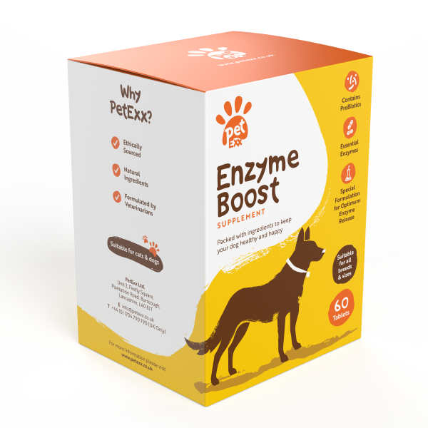 Petexx Enzyme Boost is packed with essential ingredients that aid dogs who suffer from sensitive digestion